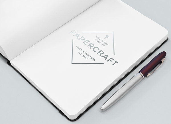 Download Template Mockup Terbaru - Elegan Notebook Mockup