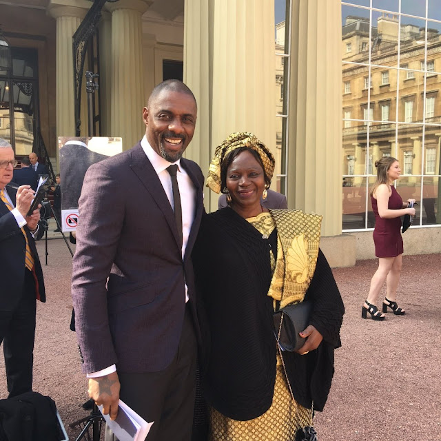 Idris Elba Shares Photo Of Himself And Lovely Mum In Her Traditional Clothing And Headtie Right After OBE Ceremony
