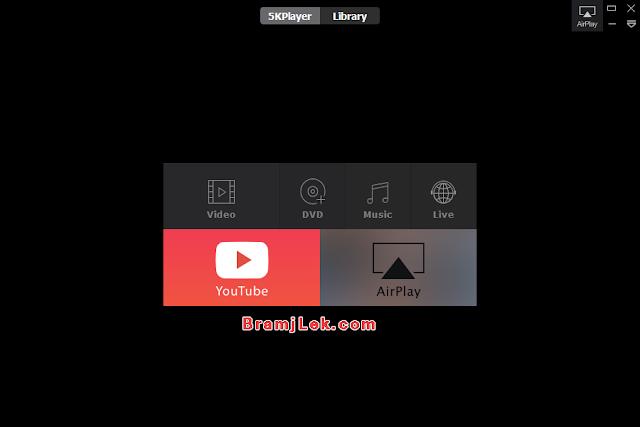 تحميل برنامج فايف كي بلاير 5KPlayer 2018 لتشغيل الصوت والفيديو مجانا
