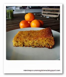 Tarta de mandarinas y avellanas