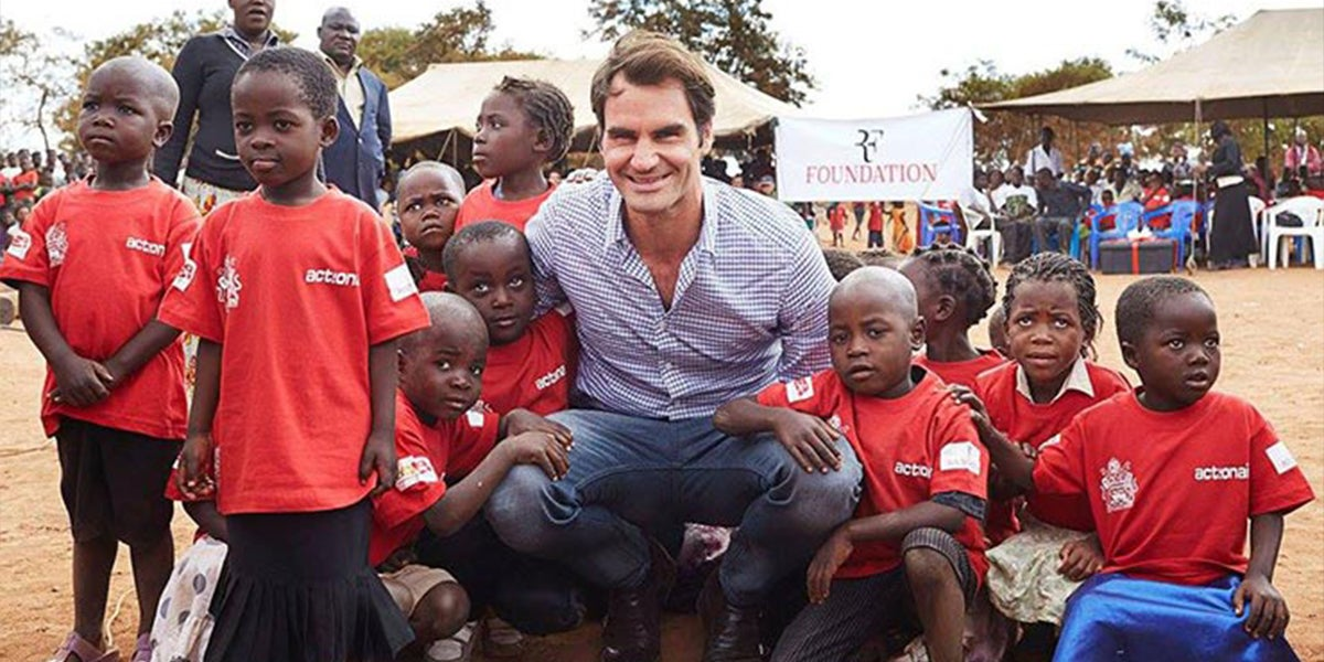 Tennis Player Roger Federer Donated Schooling And Food To A Million Kids