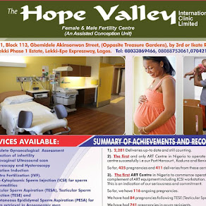 THE HOPE VALLEY FERTILITY CLINICS ARE LOCATED IN LAGOS, PORT HARCOURT, KADUNA AND BENIN CITY