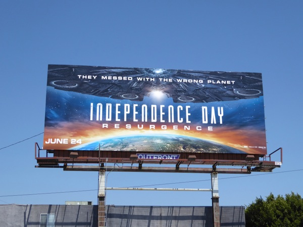 Independence Day 2 movie billboard