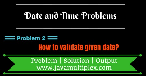 Java program that validates given date.