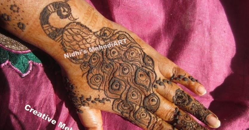 Mehndi Henna Designs Peacock : Nidhi s mehndiart gorgeous peacock and feather henna
