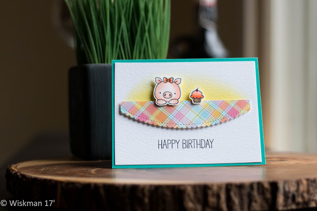 Koren Wiskman Happy Birthday Card Featuring Mft And Lawn Fawn For