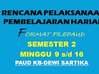 Download RPPH RKH TK B Semester 2 Minggu 9-17