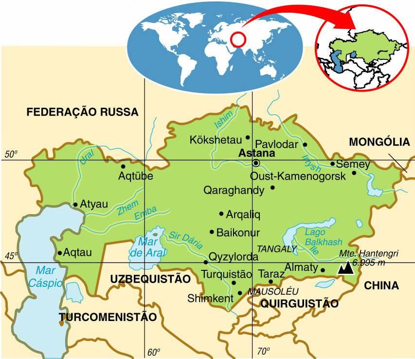 CAZAQUISTÃO, ASPECTOS GEOGRÁFICOS E SOCIOECONÔMICOS DO CAZAQUISTÃO