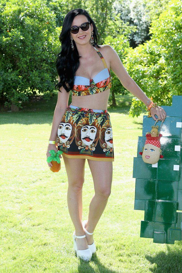 Katy Perry in Dolce & Gabbana SS 2013 Sicilian Style