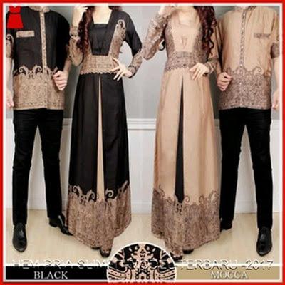 14GBCB Baju Batik Elegan Mocca Couple BMGshop Bj2814