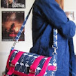 "Finished messenger bag using free pattern from ""Sew Sweetness"""