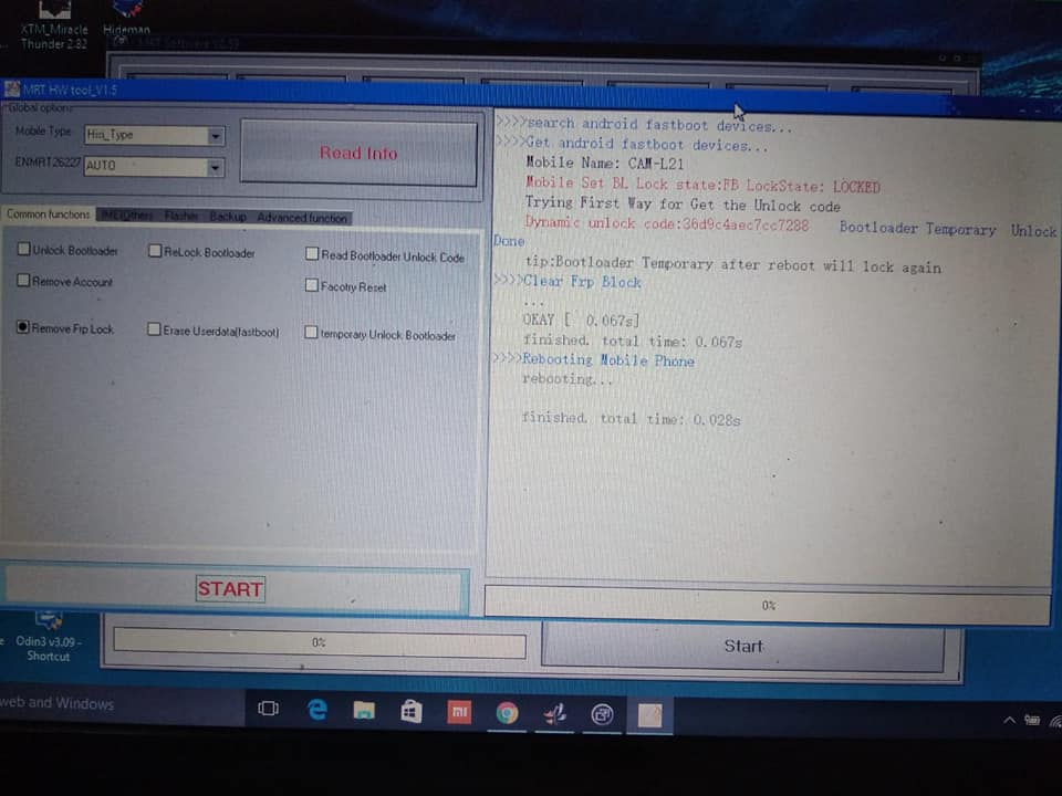 huawei cam-l21 FRP unlock MRT