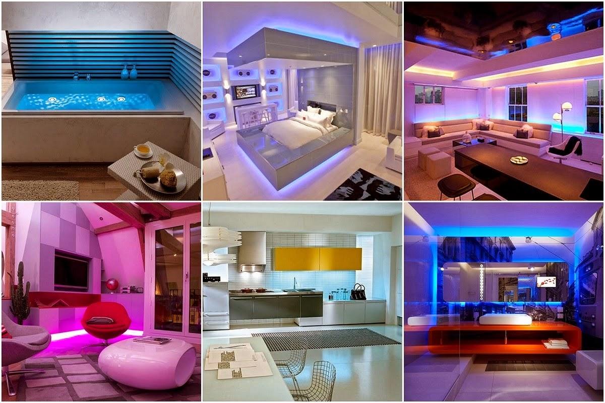 led lighting interior designs. Black Bedroom Furniture Sets. Home Design Ideas