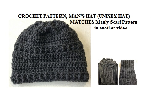 Hectanooga Patterns Free Crochet Pattern 2268yt Mans Crochet Hat
