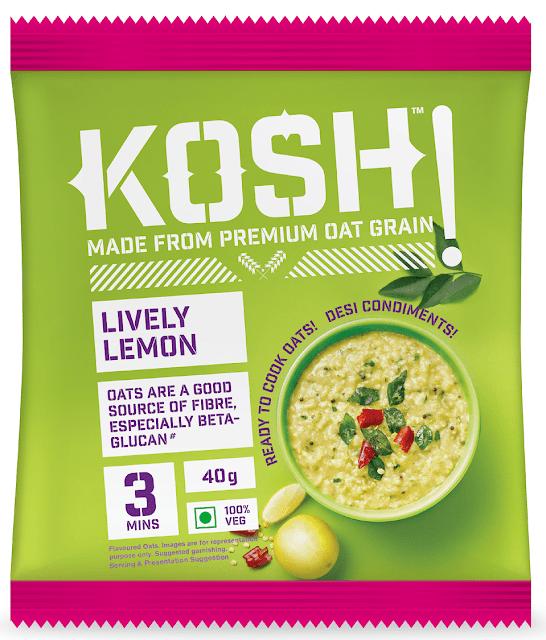 KOSH - Lively Lemon - Savoury Instant Oats