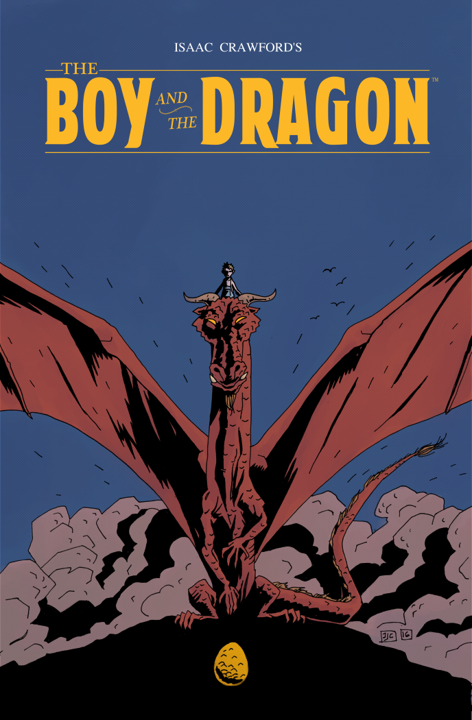 Minimalist Comic Book Covers : The boy and dragon pain joy in one simple comic