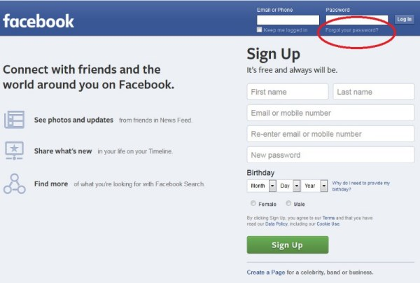 Facebook Sign In Homepage Download