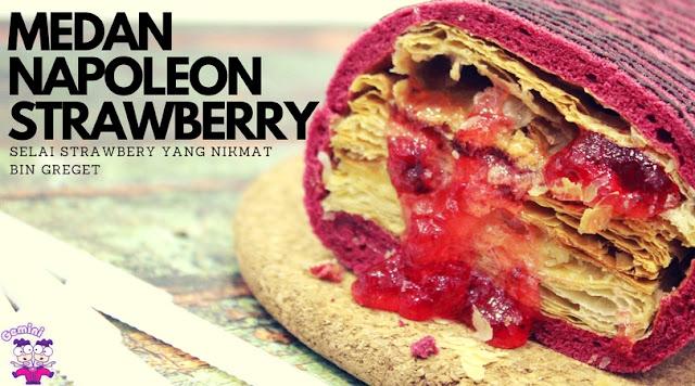 Tampilan Medan Napoleon rasa terbaru Strawberry