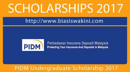 PIDM Undergraduate Scholarship 2017