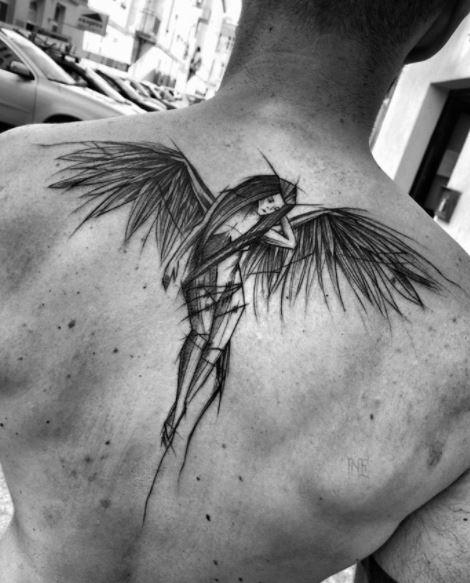 upper back Tattoos For Men