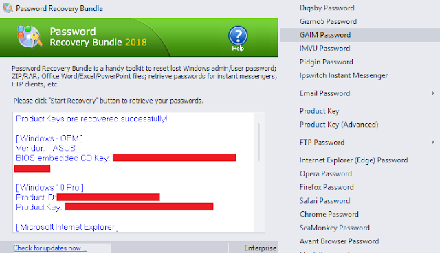 Original License Top Password - Password Recovery Bundle Enterprise