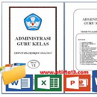 Administrasi Guru Kelas SD/MI Lengkap Format Words