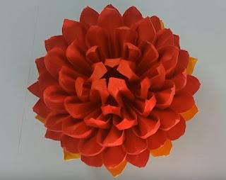 gấp hoa sen bằng giấy
