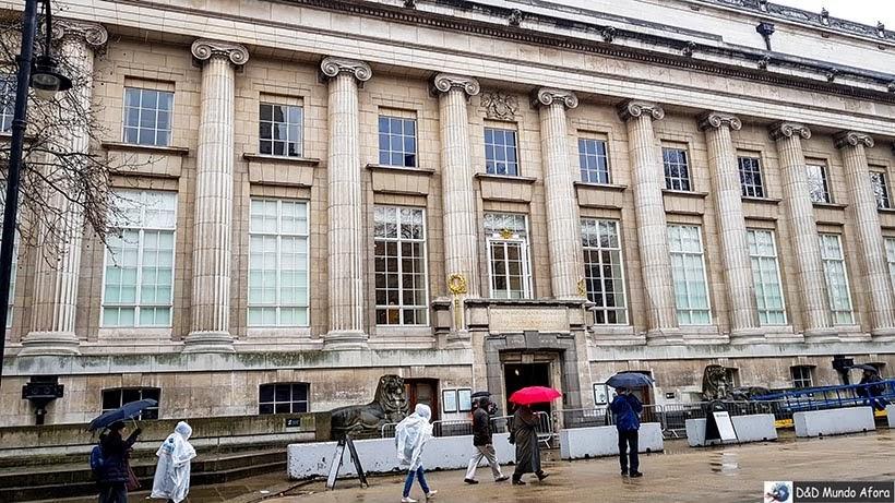 Entrada do Museu Britânico de Londres