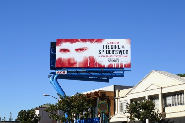 Girl in Spiders Web billboard