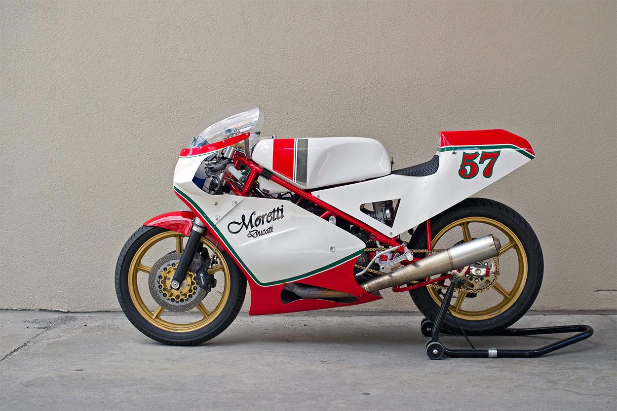 Moretti Ducati Vintage Race Bike