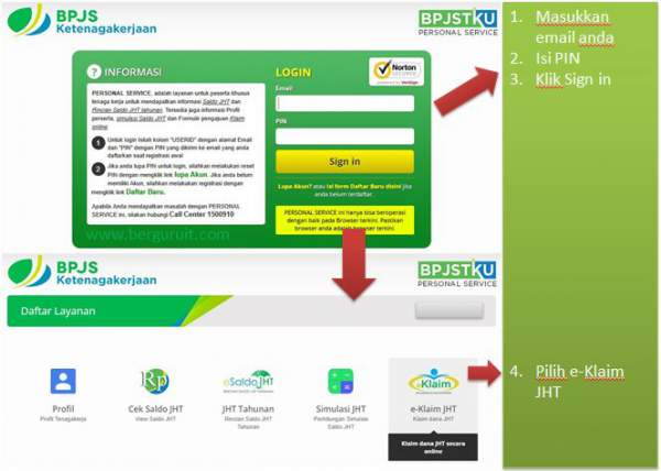 Sign in BPJS Ketenagakerjaan, e-klaim JHT