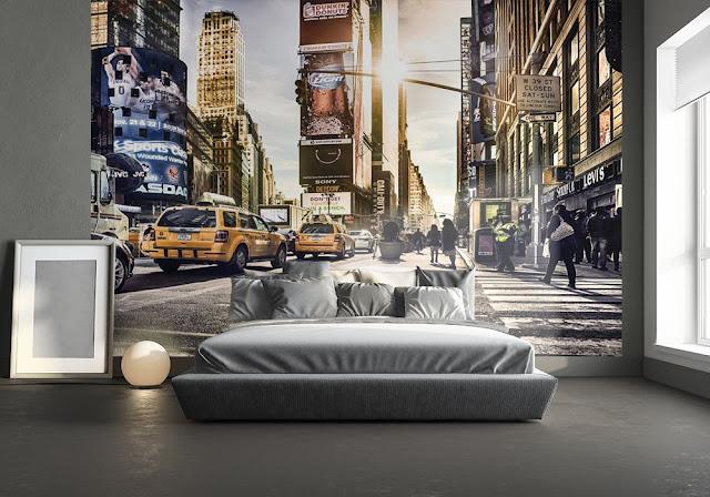 new york tapet times square fototapet sovrum
