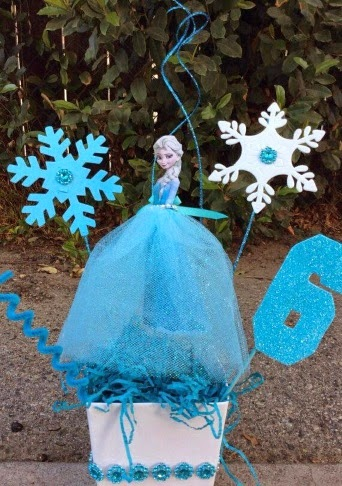 DIY Centerpieces of Elsa from Frozen.