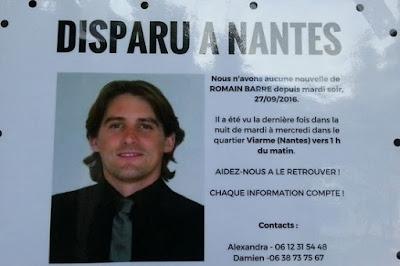 Disparition de Romain Barré : sa voiture retrouvée à Bouguenais