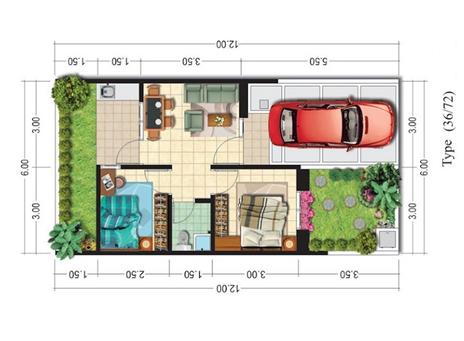 Menata Furniture Ruangan Dalam Rumah Type 36