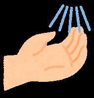 手指消毒のイラスト1