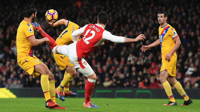 Arsenal FC Giroud Scores Crystal Palace