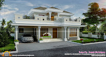 Stylish House Exterior - Kerala Home Design And Floor Plans