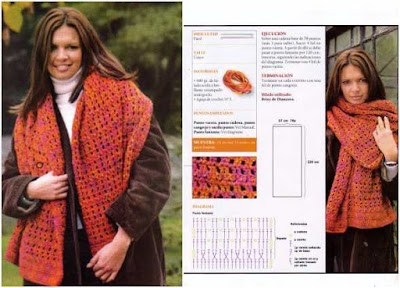 Pashmina lana acrilica brillante