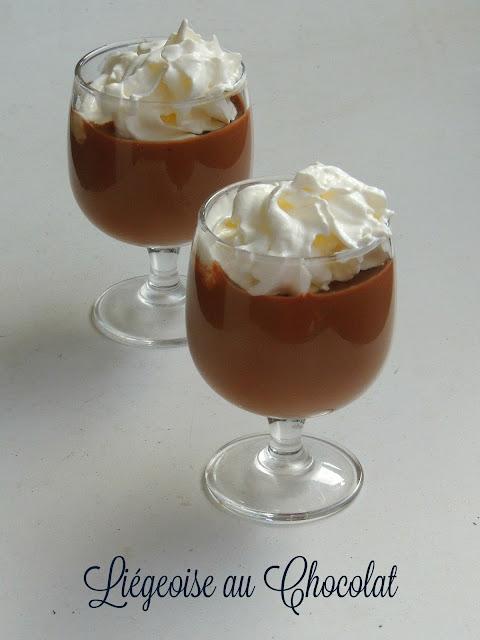 Liégeoise au Chocolat,Eggless Chocolate Liégeoise