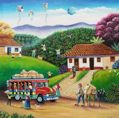 arte-naif-pueblos-colombianos-gabriel-nieto-pintor-obras