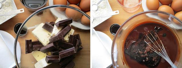 Bizcocho 4 cuartos de chocolate y vino tinto (Siempredulces) - Elaboración Paso 1