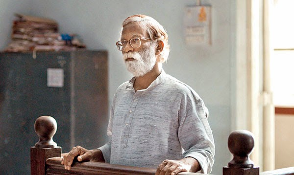 Vira Sathidar as the balladeer Narayan Kamble in Court, Directed by Chaitanya Tamhane