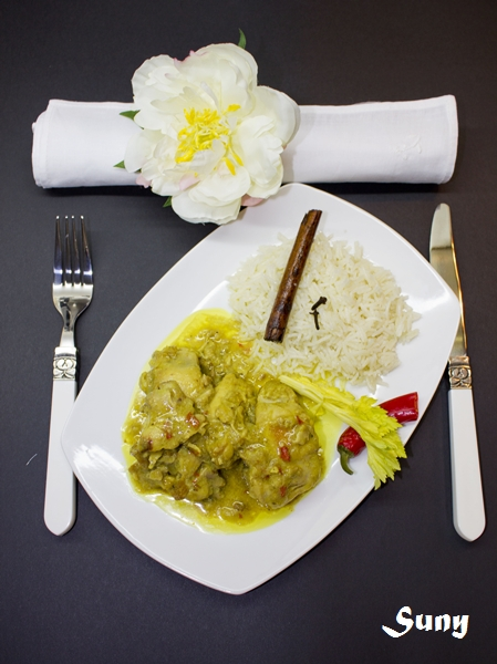 Pollo al estilo Hindú