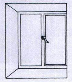 Стандартное окно в нише