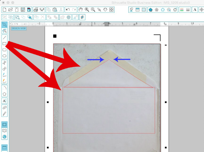 How to Make an Envelope Liner Template with Silhouette Studio and – Envelope Liner Template