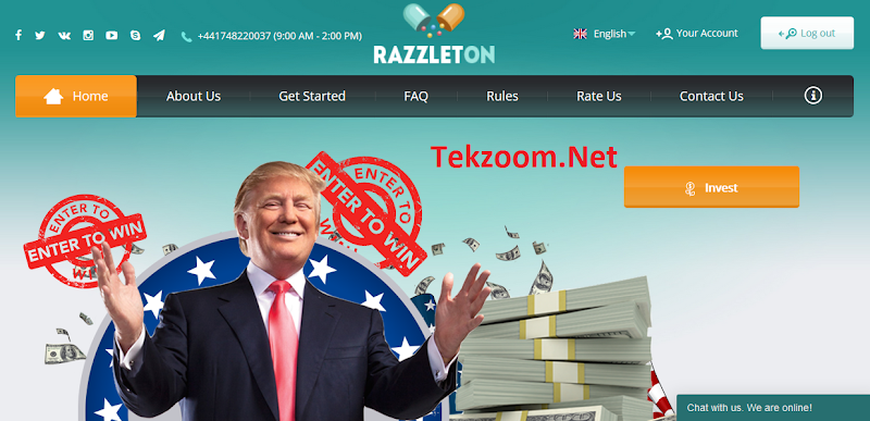 [SCAM] [Razzleton] HYIP - PAY - Lãi 2.1-2.9% hằng ngày - Đầu tư tối thiểu 10$ - Hoàn vốn đầu tư - Thanh toán Manual
