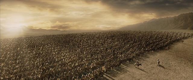 Los Rohirrim en los campos de Pelennor