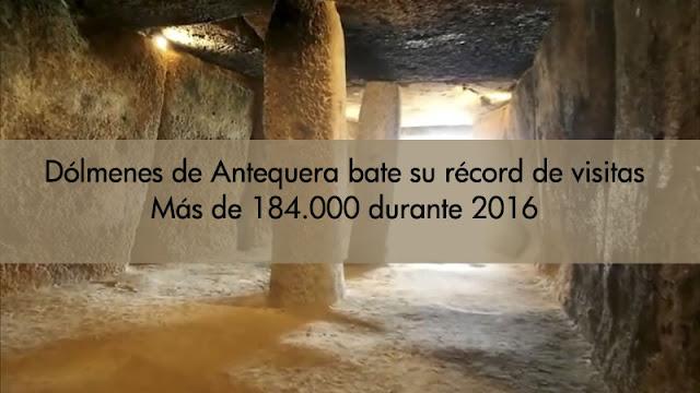 Dolmenes Antequera casi duplica sus visitantes en 2016