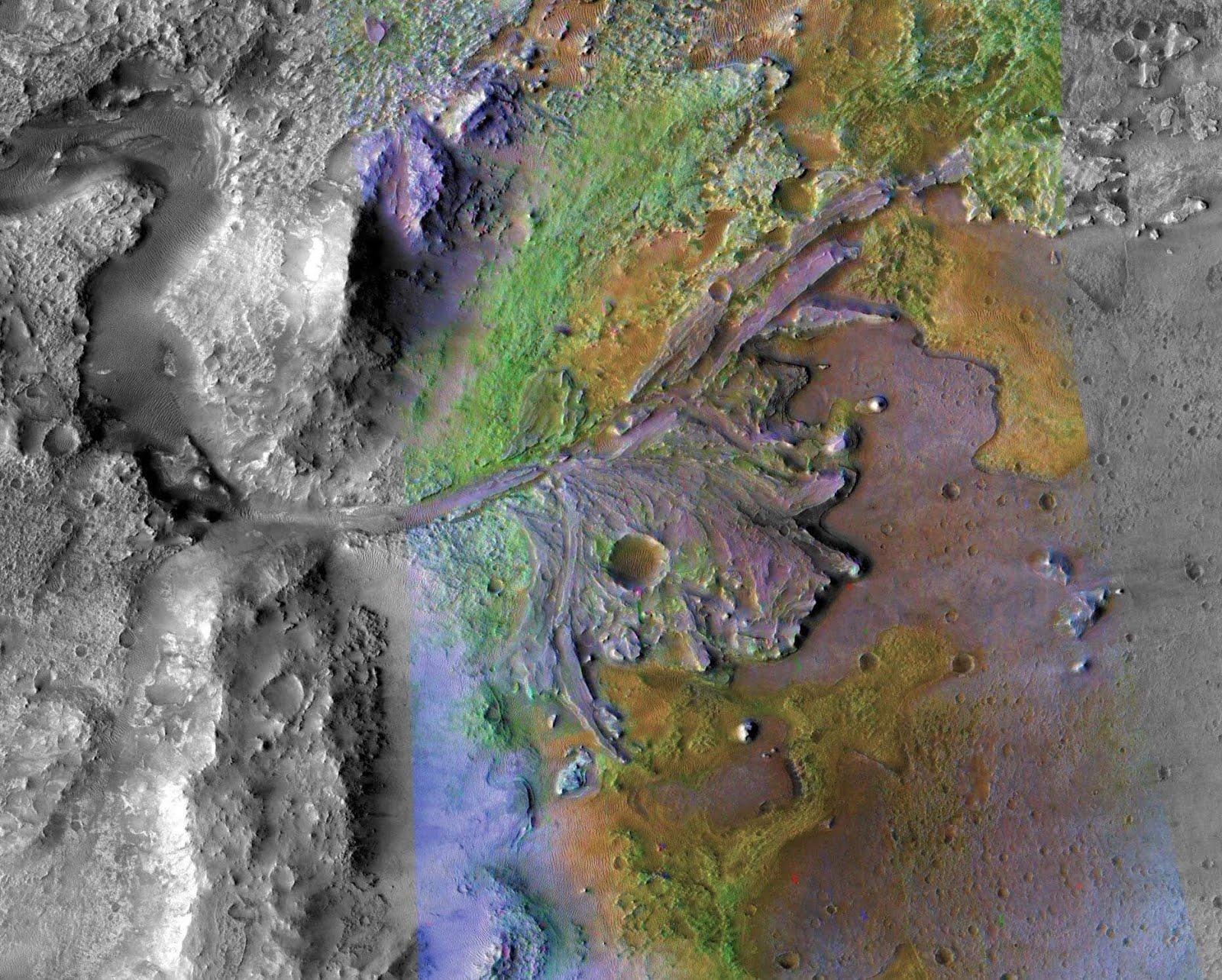Immagine NASA della zone in cui si svolgerà la missione MSR2020.  Credit: NASA and JPL-Caltech